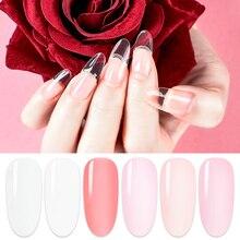 цена на Nude Pink Poly Extension Gel Polish Quick UV Builder Nails Gel Extender Acrylic Gels Polish Nails Kit Extension Nail Art Varnish