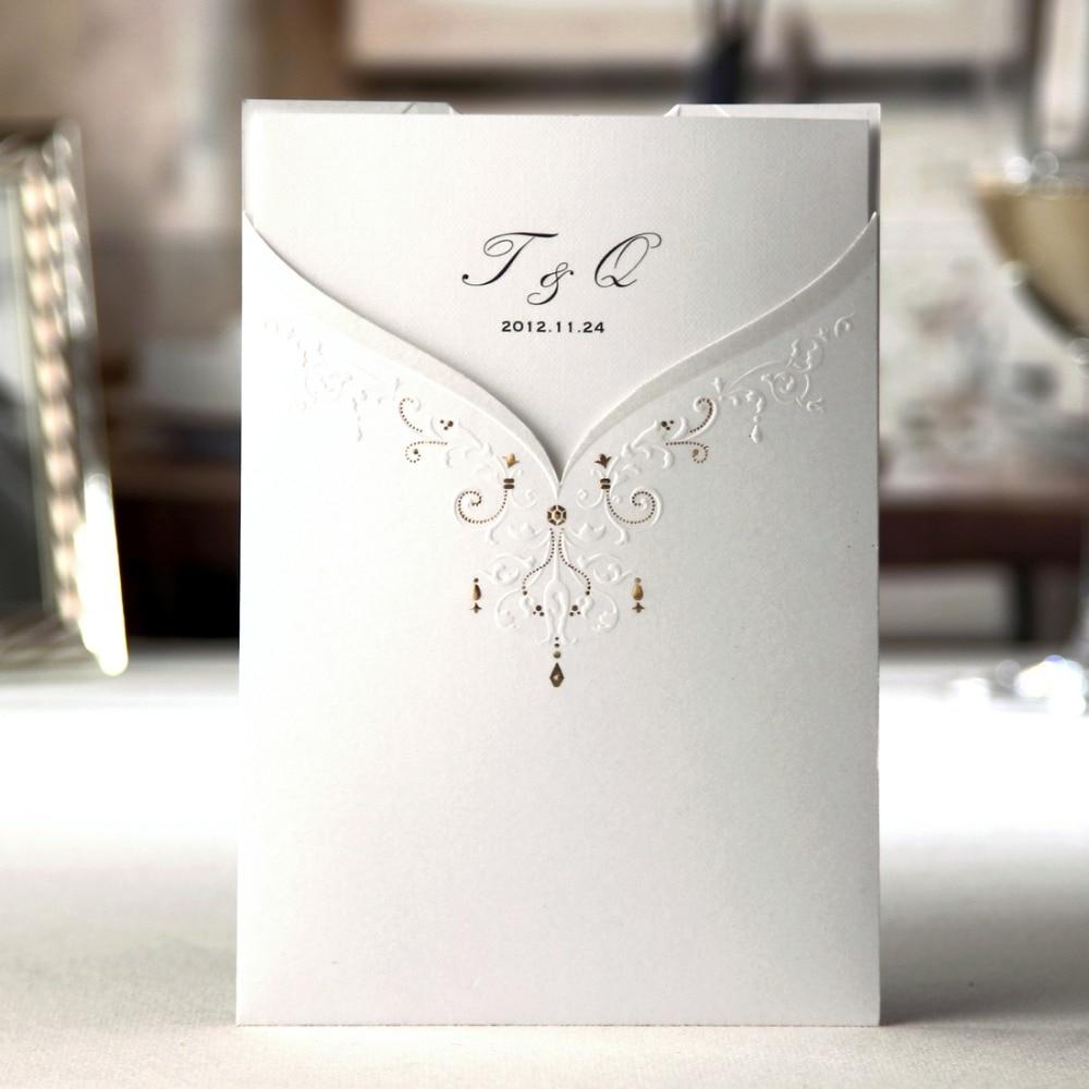 Ev ve Bahçe'ten Kartlar ve Davetiyeler'de 50 adet/grup Lazer Kesim Düğün Davetiyeleri Kartları Ücretsiz Yazdırılabilir Damat ve Gelin Nişan evlilik davetiyesi Düğün Olaylar CW2011'da  Grup 3