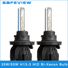 SAFEVIEW 2 pcs replacement Headlights bulb 35W 55W Bi xenon bulb H13-3 xenon HID Headlight 4300K 5000K 6000K 8000K 10000K