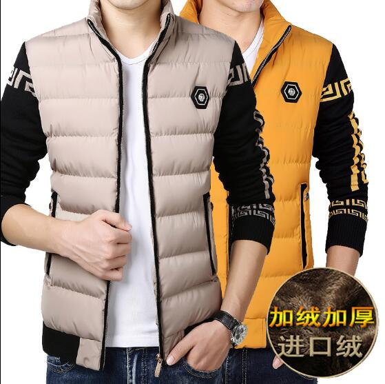 ФОТО Winter jacket men Men thickened cotton