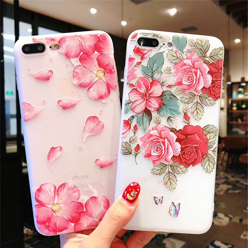 Cellphones & Telecommunications Capable Eleteil Peony Flower Case For Iphone 6 6s 7 8 Plus Rose Printed Case For Iphone X Xr Xs Max Protective Phone Back Cover E40 Relieving Rheumatism And Cold Phone Bags & Cases