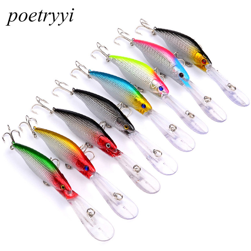 POETRYYI Floating Deep Diving Crankbait Fishing Lures 9.2g/11.5CM Lifelike With 6# Owner Hooks peche isca artificial 30