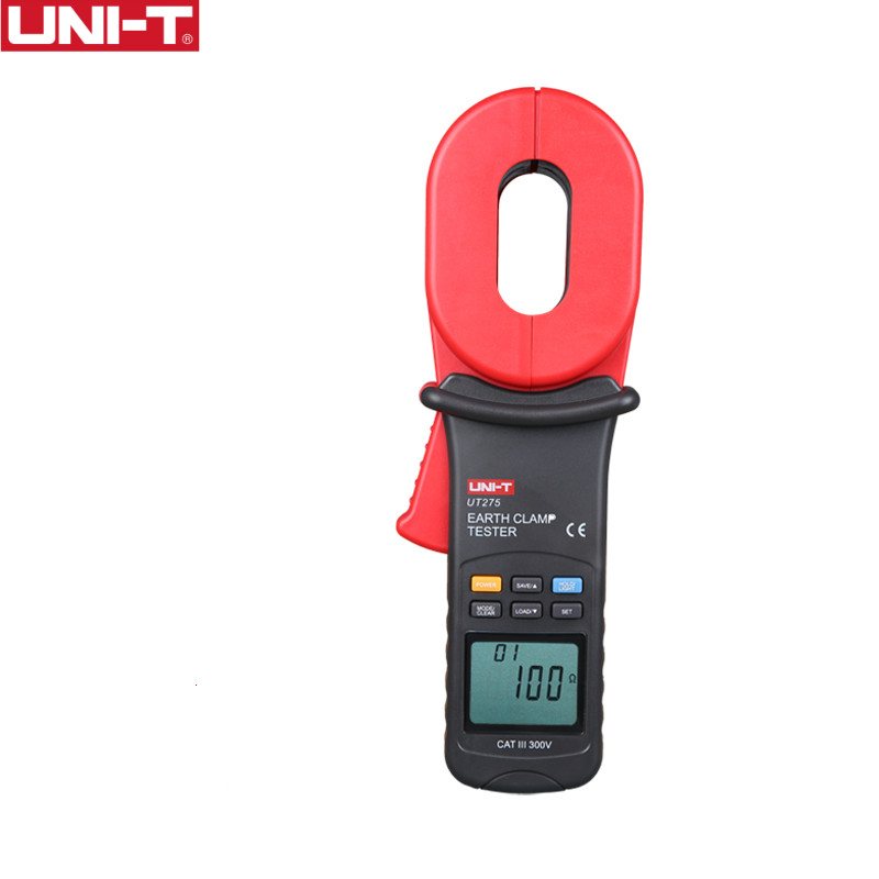 UNI-T UT275 Clamp Earth Ground Testers Resistance Leakage Current Auto Range Data Storage uni t ut276a auto range digital clamp earth ground resistance testers megohmmeter clamp meters ohmmeter w rs 232 interface