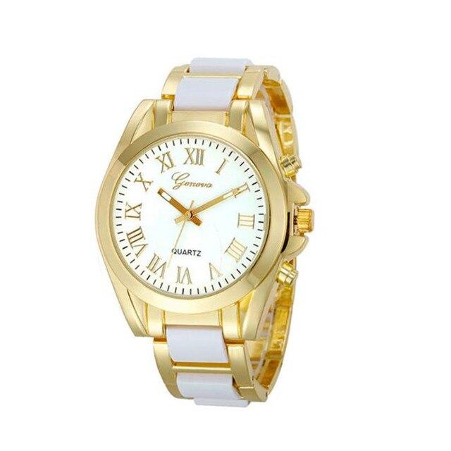 Модные красивые часы Для женщин Женева римская цифра позолоченный металл/нейлон Ссылка часы бесплатная доставка дропшиппинг оптовая na17