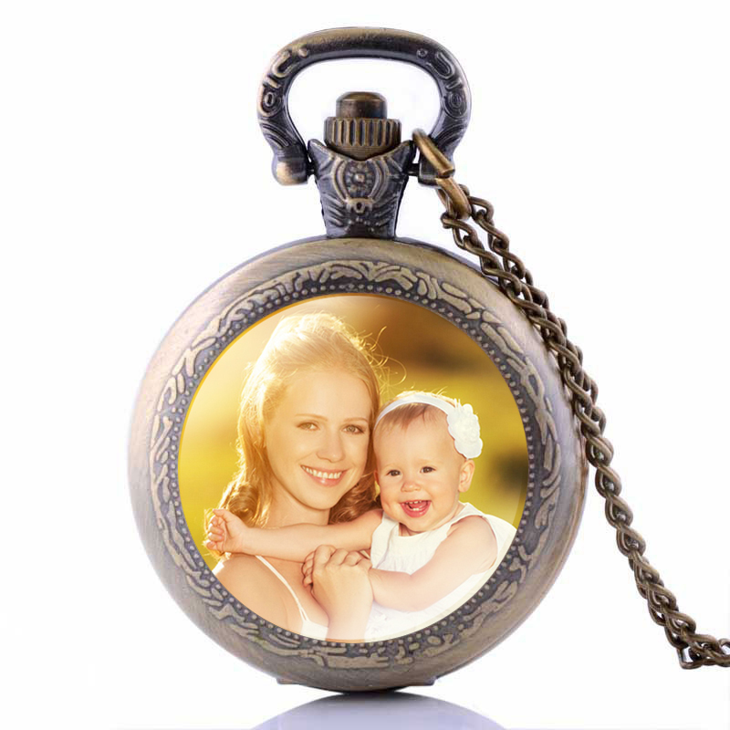Personalized Photo Pendants Custom Pocket Watch Necklace Photo of Your Baby Child Mom Dad Grandparent Loved One Gift for Family Personalized Photo Pendants Custom Pocket Watch Necklace Photo of Your Baby Child Mom Dad Grandparent Loved One Gift for Family