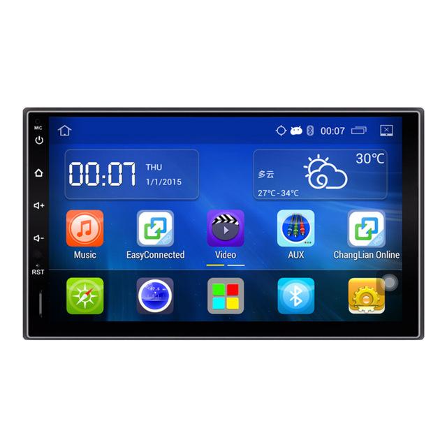 Navegación GPS de 7 pulgadas 1024*600 Android 4.4 Reproductor de DVD Del Coche 2 Din En El Tablero de Bluetooth de Vídeo Estéreo Volante de Coche Universal Radio