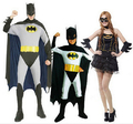 Envío libre!! Ganga!!! familia!!! sirviendo batman disfraces de Halloween vestido de fiesta de Halloween ropa de fiesta de disfraces de carnaval