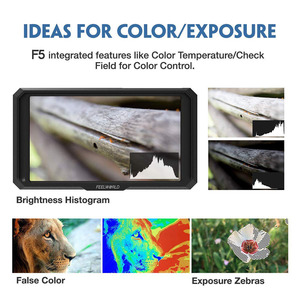 Image 4 - FEELWORLD F5 5 אינץ IPS DSLR מצלמה שדה צג 4K HDMI FHD 1920x1080 LCD וידאו פוקוס סיוע עבור מצלמות ירי