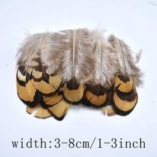 цена на 20-100 pieces Natural pheasant feathers for clothes 3-8CM DIY golden pheasant feathers for crafts petite plumes pour bricolage