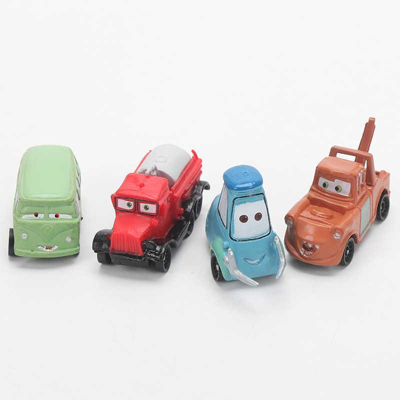 4-6 см 24 шт./лот disney Pixar тачки 3 Молния Маккуин матер Джексон шторм Рамирез 1:55 литая под давлением ABS модель автомобиля игрушка подарок для мальчиков