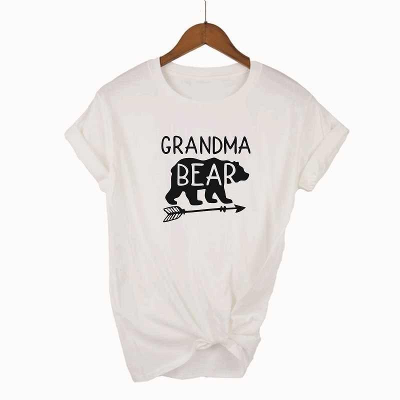 169ac708 OKOUFEN GRANDMA BEAR T-shirt Women Top Casual Cotton Letter Print Short  Sleeve Grandmother T Shirt Harakuju For Lady Gift Tee