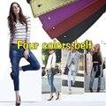Moda H Cinto De Couro Largo Mulher Simples PU Pele Suave cinto de Fivela de Cinta Feminina Para Jeans Cintos Mulheres Qualidade Superior