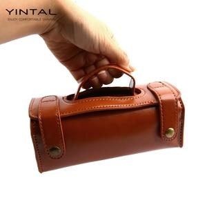 Image 4 - YINTAL manuel tıraş bıçağı taşınabilir tıraş fırça seyahat deri çanta çift kenarlı güvenlik jilet kutusu (sadece 1 kutu)