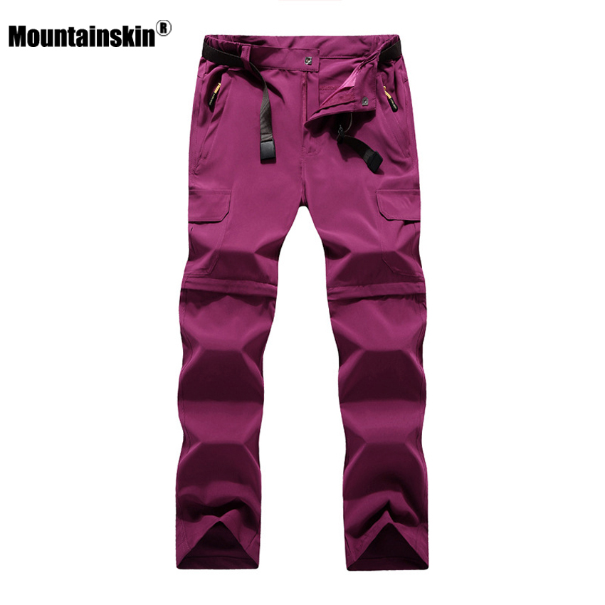 Mountainskin Women's Summer Quick Dry Removable Pants Outdoor Sport Trousers Hiking Trekking Fishing Camping Female Shorts VB047