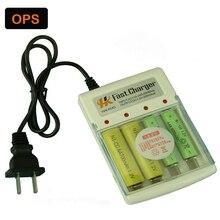 4 pcs aa/aaa ni-mh/ni-cd recarregável carregador de bateria & carregador de casa & plug eua ou outra ficha adater
