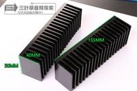 Personalizado espessamento tipo LM3886 TDA7293 para fins especiais do dissipador de calor do radiador 155*50*40