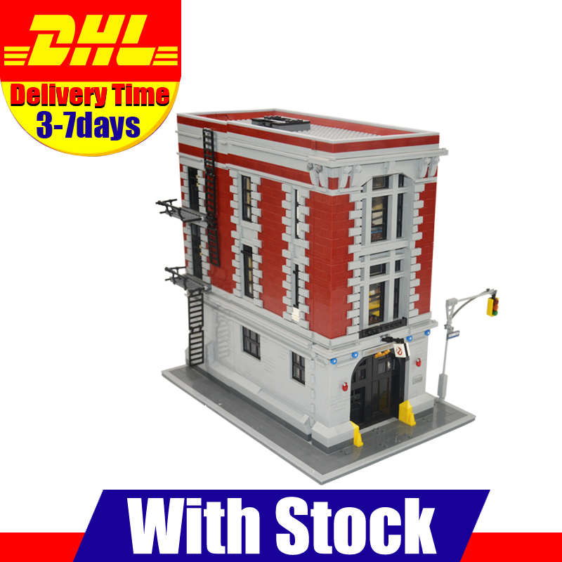 2018 New DHL 4695Pcs 16001 Ghostbusters Firehouse Headquarters Building Bricks Blocks Set Toys Compatible With 75827 4695pcs lepin 16001 city series firehouse headquarters house model building blocks compatible 75827 architecture toy to children
