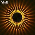 YooE 屋内照明 3 ワット Led ウォールランプひまわり投影光線壁燭台 AC110V/220 12V カラフルな Led ウォールライトイエロー/ブルー/レッド