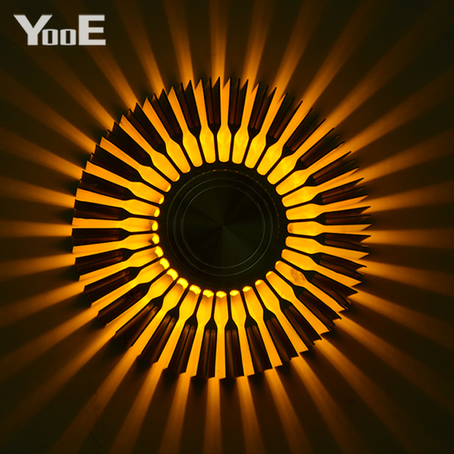 Yooe Indoor Lighting 3w Led Wall Lamps Sunflower