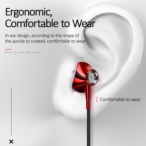 Image 4 - USAMS ב אוזן 3.5mm אודיו אוזניות מתכת Hifi Wired אוזניות מיקרופון 4D סטריאו wired אוזניות עבור iPhone 6s se סמסונג Xiaomi