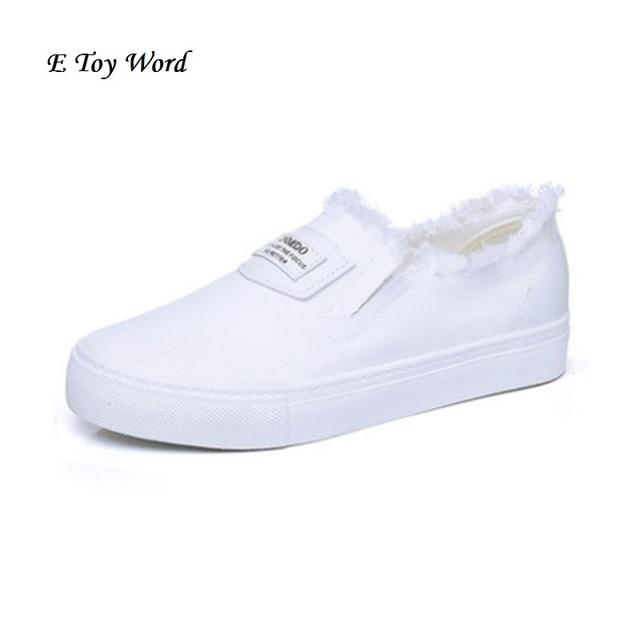 Zapatos de lona florales Venta caliente 2017 moda Appliques slipony mujeres  aumento de la altura del 133da42432ce
