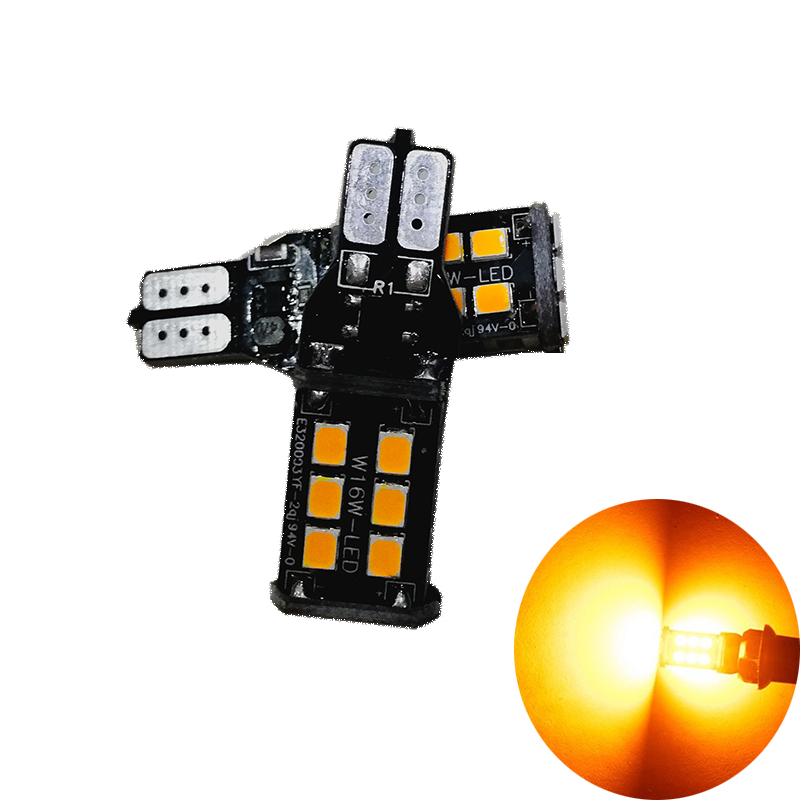 2x T15 W16W CANBUS 2835 LED 15 SMD Auto Car Backup Bulbs Brake Lamp Reverse Lights 6500K White Red Amber 921 led Bulb Lighting 2x white red yellow 30w cree chips t20 7440 w21w led bulbs for auto car moto reverse lights backup drl lights bulb 12v dc