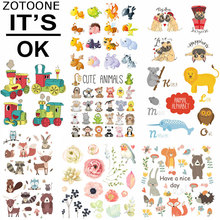 ZOTOONE Patches Cute Animal Sets Iron on Transfer for Clothing Bag Washable Badges Diy Accessory Deco D