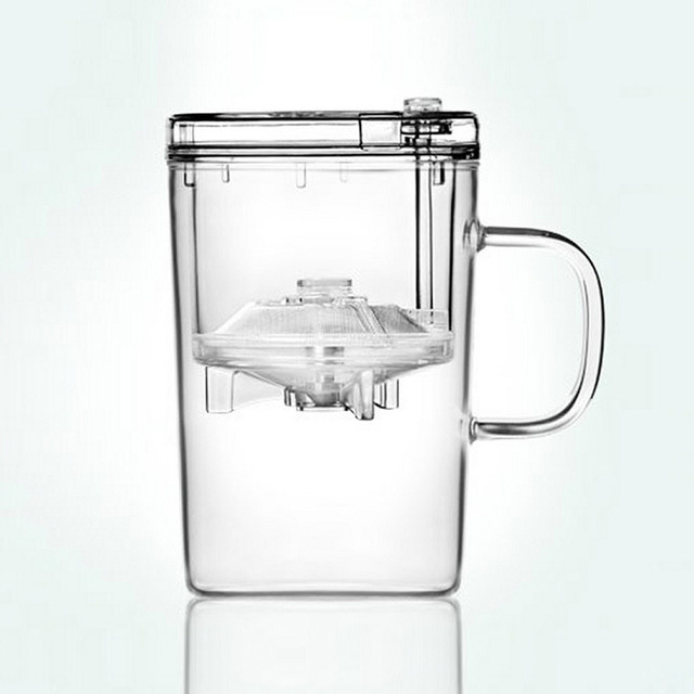 Top Grade 430ml Heatproof Glass Cup Tea Mug With Infuser Strainer Office/Meeting/Travel Portable Drinkware Fashion Healthy Mugs