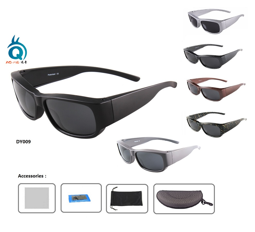 Promoción Polarized FIT OVER SUNGLASSES Gafas de sol de pesca Lente gris polarizada Gafas de sol deportivas Ver gafas de pesca flotantes