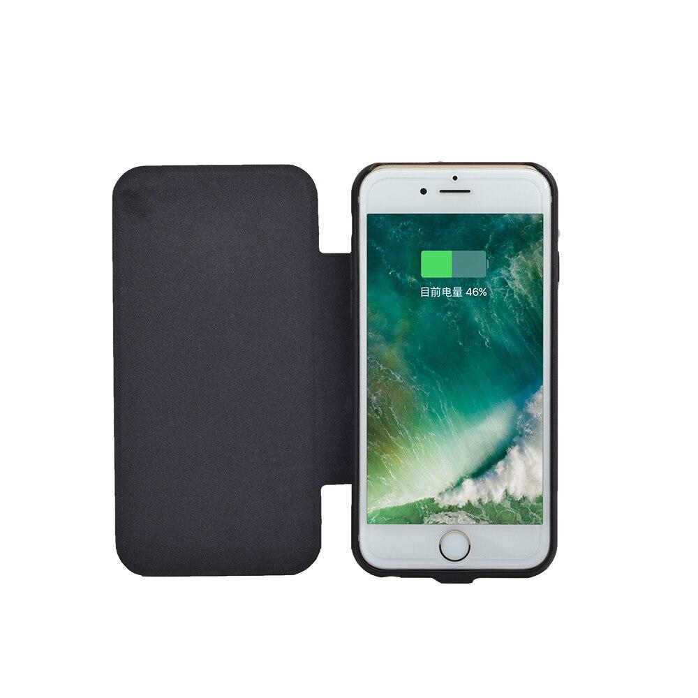 Цена за Чехол для телефона 2800 мАч 4200 мАч для iphone7 6 6S плюс Солнечный случае телефон резервная батарея сзади клип солнечной энергии зарядное устройство чехол