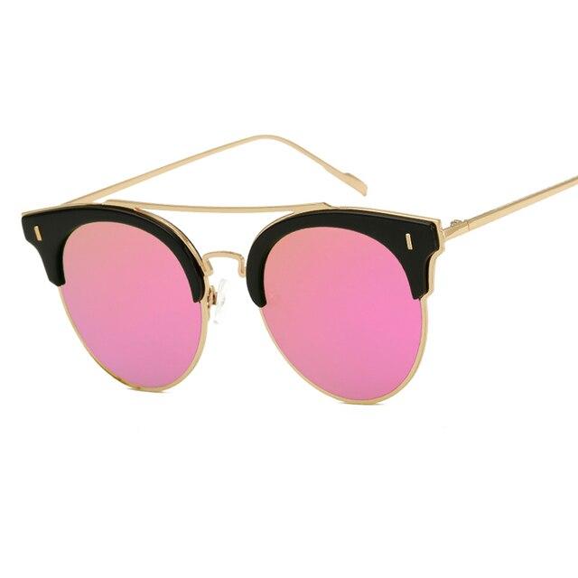 782b058e25c Cateye Sunglasses Sun Glasses Round Sunglasses Men Lunette De Soleil Homme  Marque Bril Zonnebrillen Oculos Vintage Rays Shades