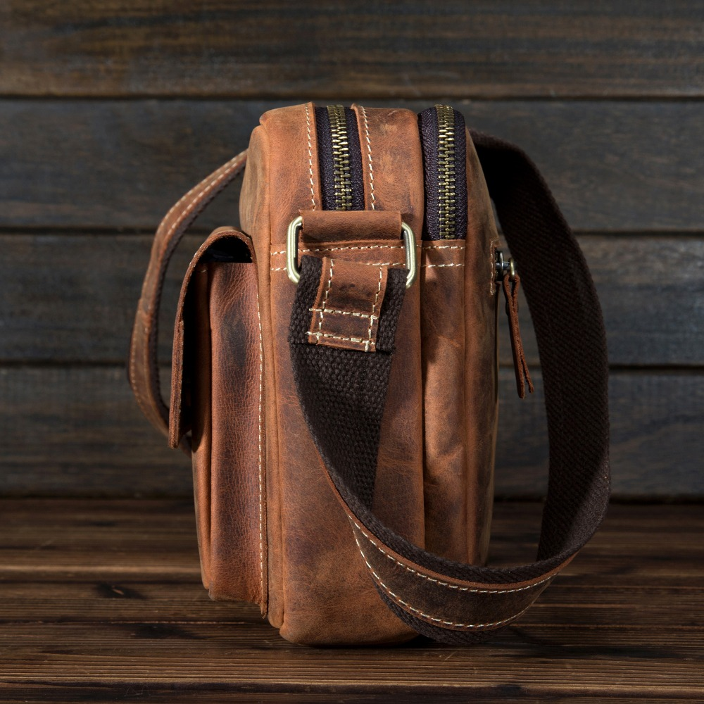 Retro Style Men 39 s Genuine Leather Crossbody Shoulder Handbag Cross Body Messenger Sling Bag Briefcase 8820