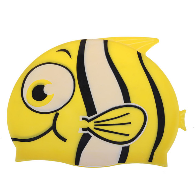 Wholesale Price Lovely Children Cartoon Swimming Cap Silicon Diving Waterproof Cute Swimming Caps casquette