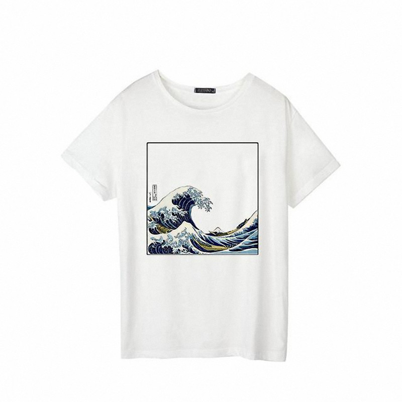 And So It Is Ocean The Great Wave of Aesthetic T-Shirt Women Tumblr 90s Fashion Graphic Tee Cute Summer Tops Casual T Shirts 5