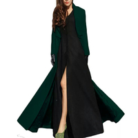 2018 Feminino European and American Women Autumn Winter Woolen Maxi Long Coat Trench Female Robe Outerwear Manteau Femme