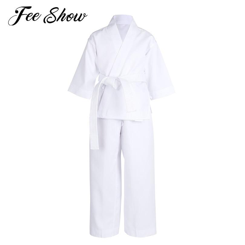 100/% algod/ón Traje de Karate /& cintur/ón blanco Infantil 110 cm color blanco