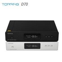 Топпинг D70 AK4497 * 2 DAC AK4118 приемник XMOS XU208 DSD512 родной 32Bit/768 кГц hi-res-аудио с пультом дистанционного управления управляющий декодер