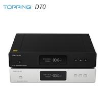 TOPPING D70 AK4497*2 DAC AK4118 Receiver XMOS XU208 DSD512 Native 32Bit/768kHz Hi Res audio with Remote Control Decoder