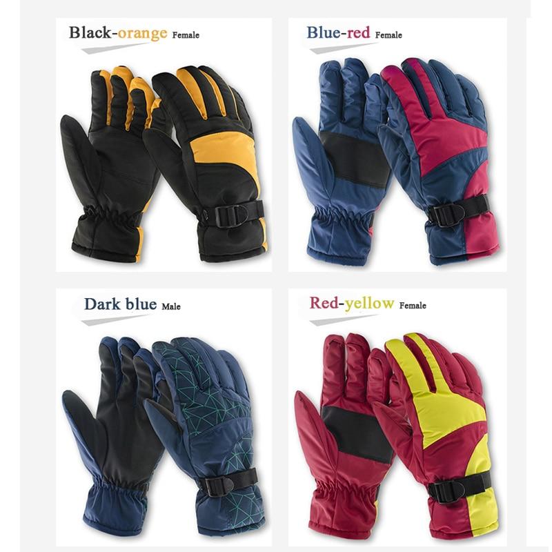 Boodun Winter Cycling Thermal Fleece Men Women Bicycle Skiing Motorcycle Warm Gloves Bike Sports Windproof Waterproof Glove