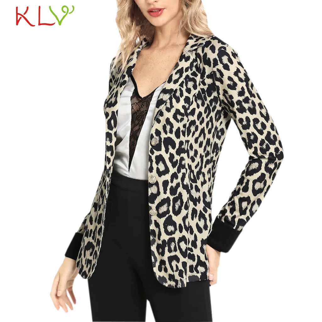 Suits & Sets Women's Clothing Motivated Women Blazer Winter Leopard Notched Elegant 2018 Office Lady Suit Long Plus Size Chamarra Cazadora Mujer Coat For Girls 18nov22