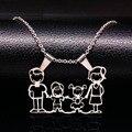 Familia mamá collar de acero inoxidable collares de la joyería de plata amor lindo niños niñas colgantes n166264 choker collar regalo de las mujeres