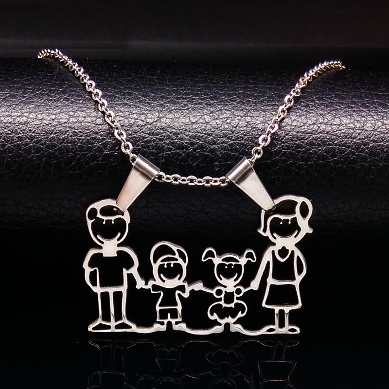 Stainless Steel Necklace Mama Family s