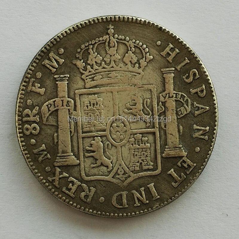 Envío libre 1776 años México doble pilares patrón corona plata latón ...