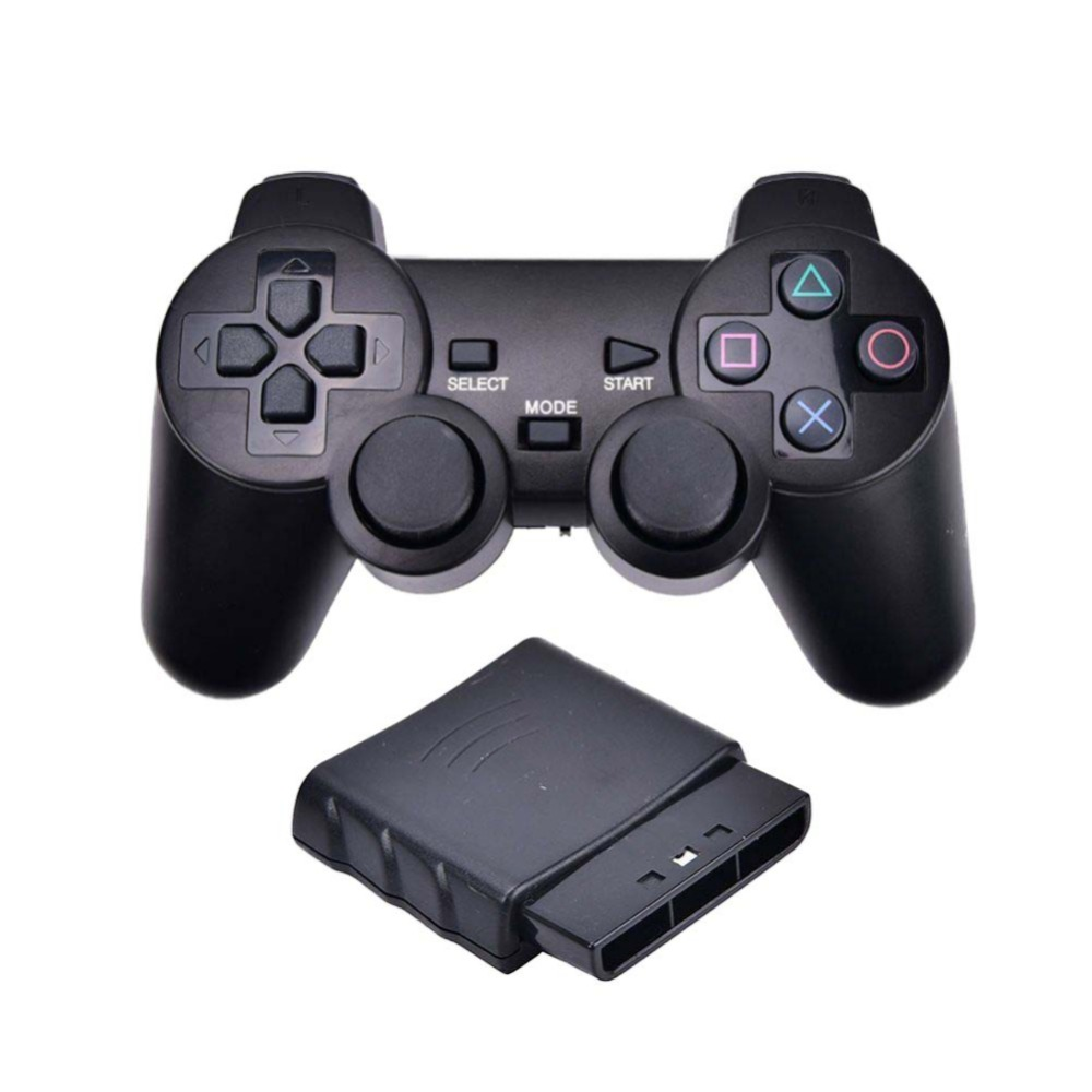 Sem fio gamepad vibrador 2.4 ghz usb controlador de jogo bluetooth gamepad joystick para ps2 para sony playstation 2