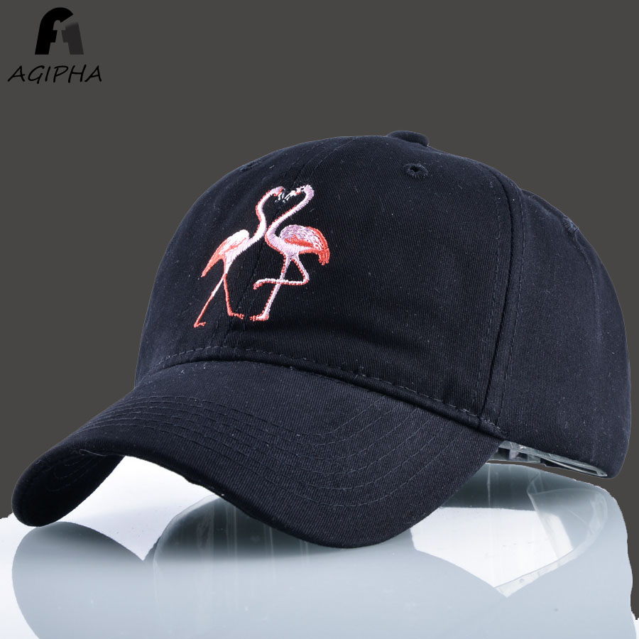 Brand New Cotton Flamingo Embroidery Pattern Baseball Cap Hats For Women Men Lover Style Full Snapback Dad Hats Type FH01 new 2017 hats for women mix color cotton unisex men winter women fashion hip hop knitted warm hat female beanies cap6a03