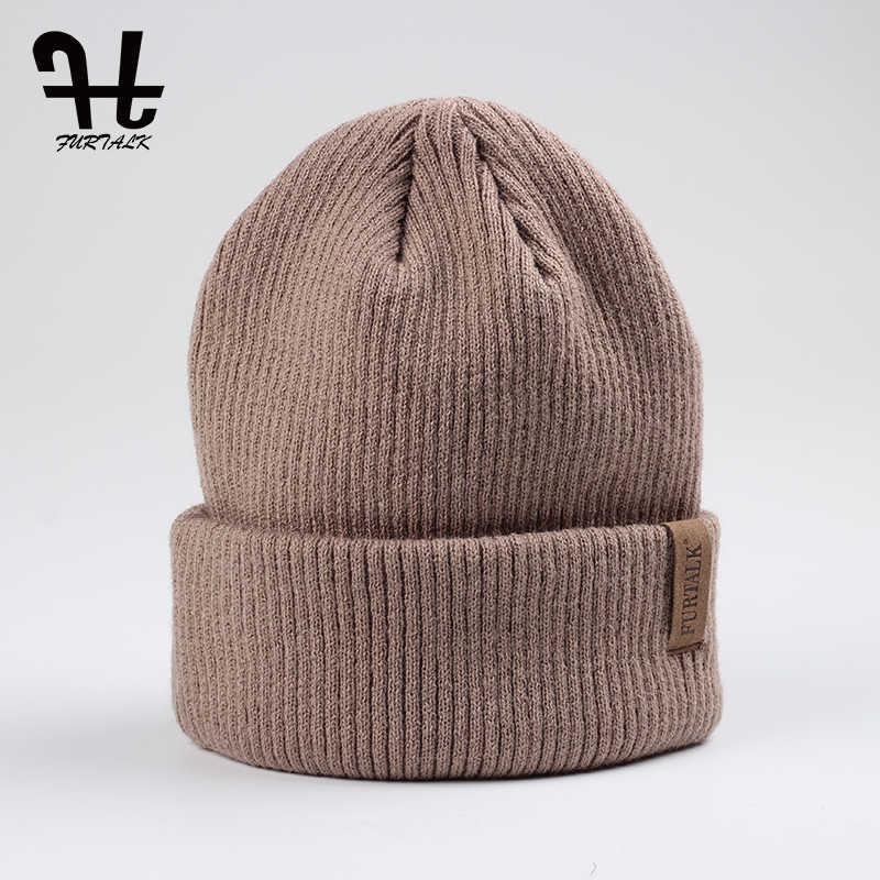 54c3b562016 FURTALK Spring Autumn Women s Hat Wool Knit Beanie Hat Cuff Beanie Watch  Cap for Girls Spring