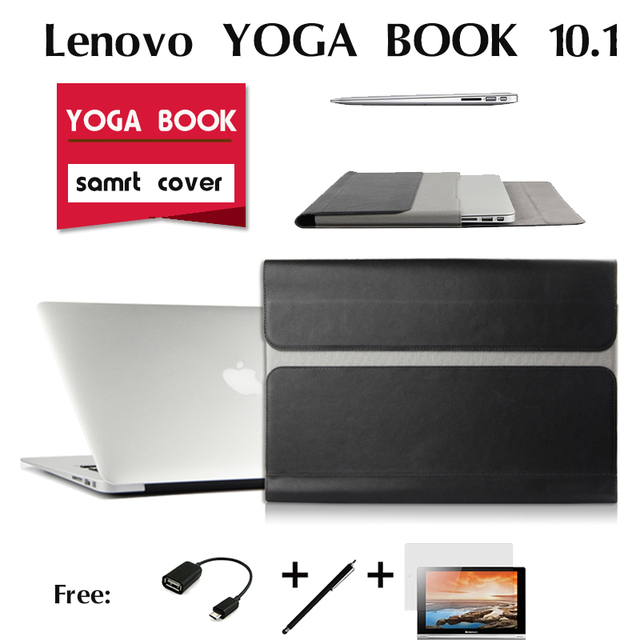 For Lenovo YOGA BOOK leather cases In one tablet package 10.1 inch sleeve High quality Classic PU leather Book case cover