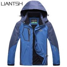 Women's Spring Windbreaker Softshell Fleece Jackets Outdoor, Waterproof Thermal Skiing Coats Parka Navy Blue Hiking Jackets Men