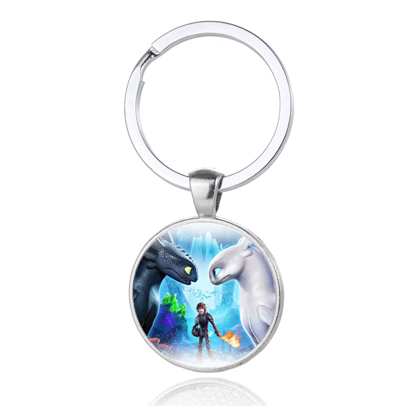 How To Train Your Dragon 3 Keychain Silver Handmade Pendant Key Ring Movie Fans Souvenir Gift For Children Jewelry