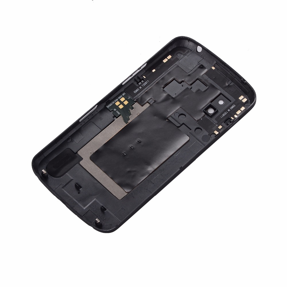 For LG Google Nexus 4 E960 Battery Door Back Glass Housing Cover + NFC